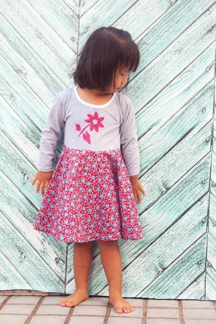 Tshirt Dress Pattern  Schnittmuster Kleid Kind