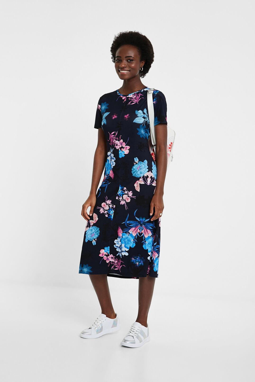 Tshirtkleid Blumen  Desigual Damen Kleider  Bravehyip