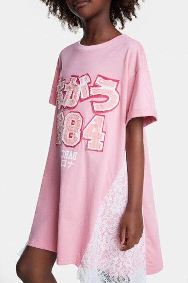 Tshirtkleid Mit Spitze Von Desigual Für 2239 € Ansehen