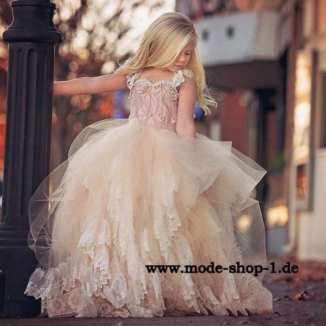 Tüll Mädchen Kleid Abendkleid Margareta Festlich In Beige