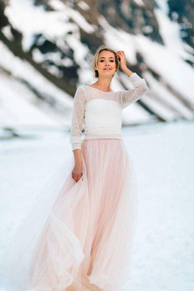 Tüllrock Rosa Zum Zweiteiler  Brautkleid Prächtiges