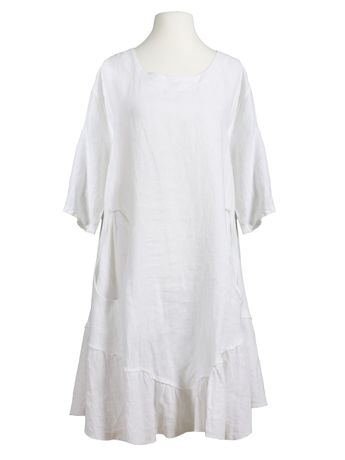 Tunika Kleid Leinen Weiss Von Les Frères  Meinkleidchen
