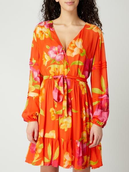Twin Set Kleid Aus Krepp Mit Taillengürtel In Rot Online