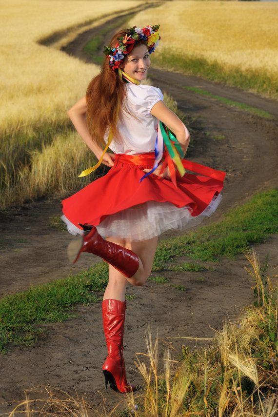Ukrainische Kleid Tracht Russische Kleidung Ethnische
