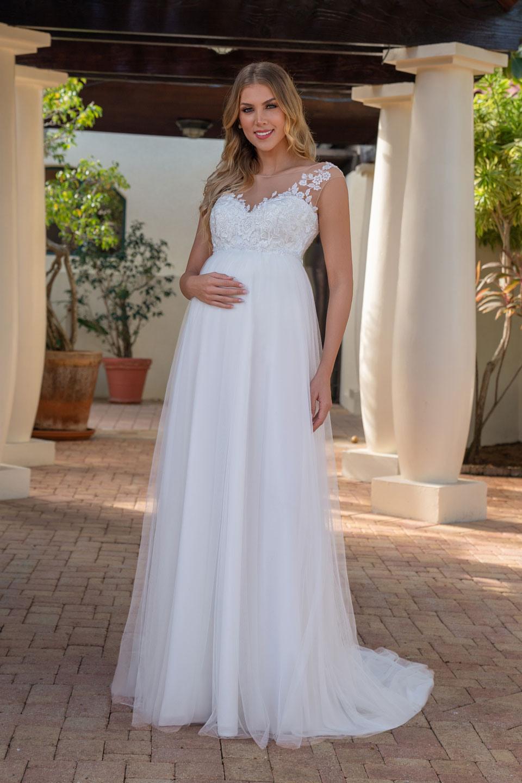 Umstands Hochzeitskleider Lang  Abendkleider  Elegante