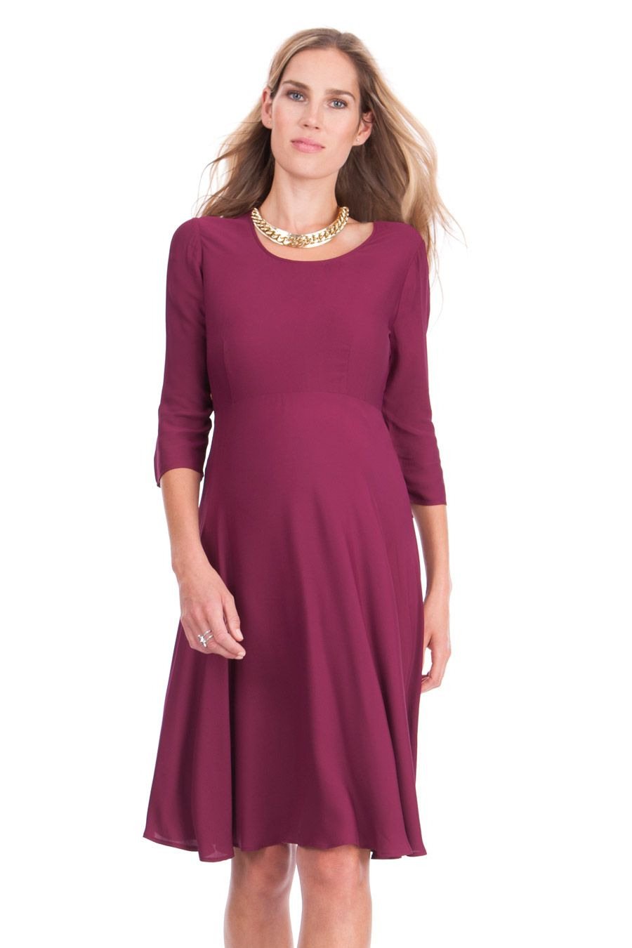 Umstandskleid Mit Tellerrock  Langarm Kleider