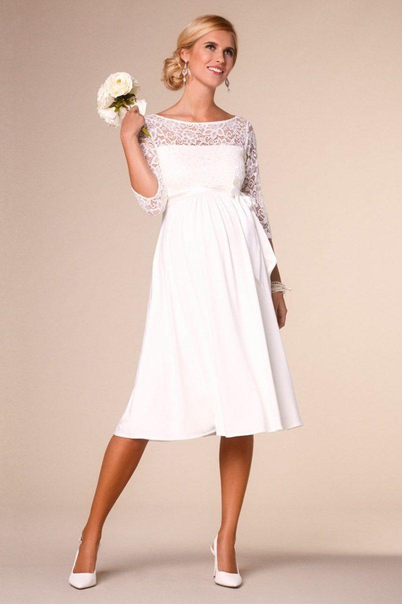 Umstandsmode Kleid Für Hochzeit  Abendkleid