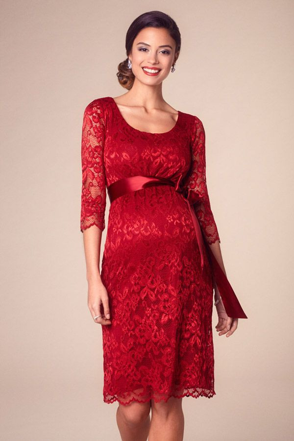 Umstandsspitzenkleid Rot  Umstandskleid Kleider Kleid