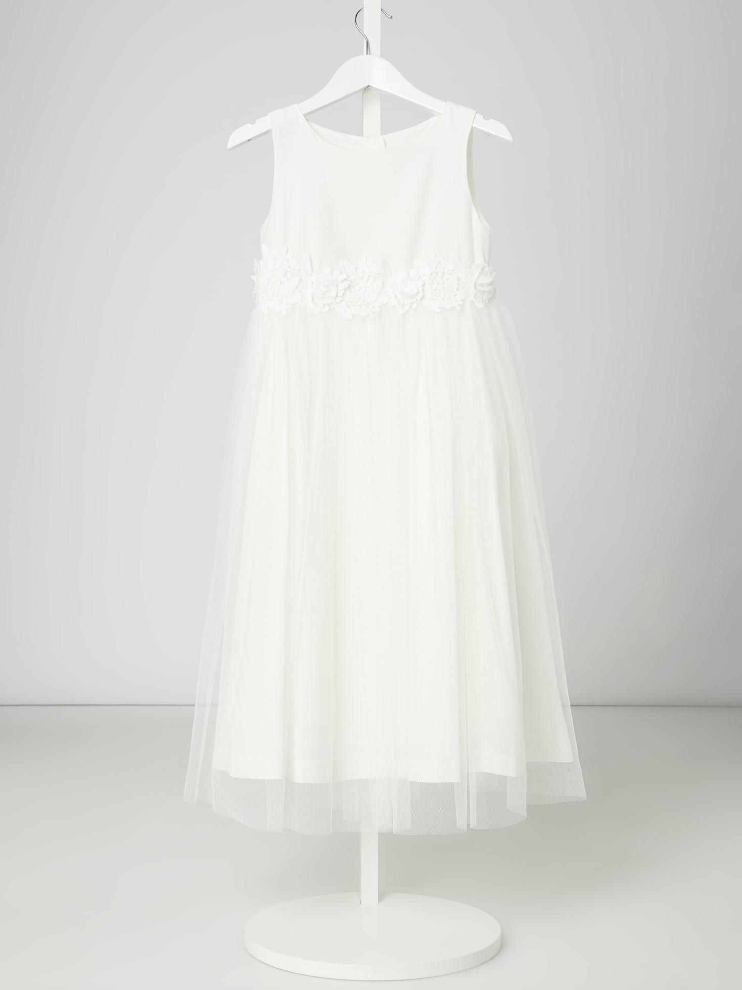 Une Hautre Couture Kleid Mit Zierborte Aus Häkelspitze In