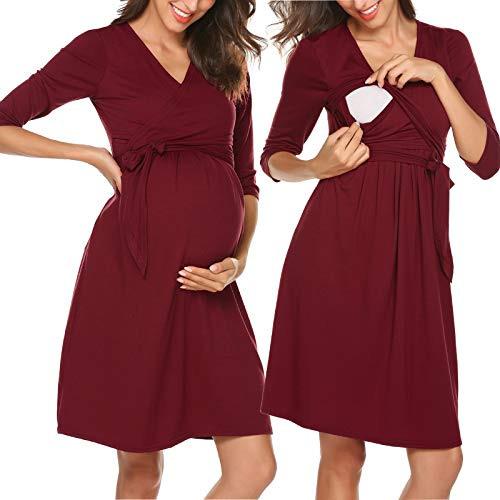 Unibelle Maternity Kurzarm Alinie Schwangerschaft Kleid