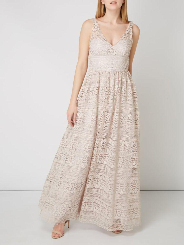 Unique Brautkleid Aus Häkelspitze In Rosé  1  Brautkleid