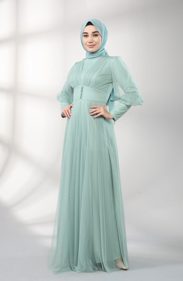 Unreife Mandelgrün Hijababendkleider 538704  Sefamerve