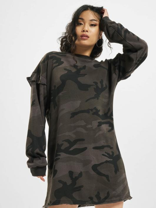 Urban Classics Damen Kleid Camo Volant In Camouflage 474746