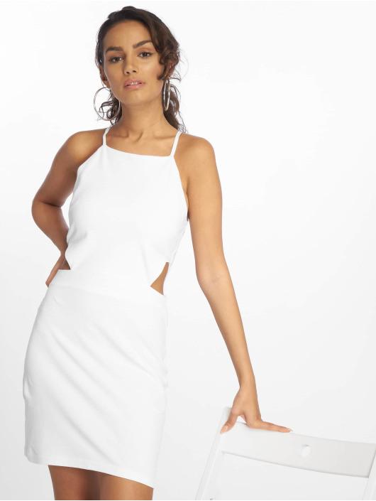 Urban Classics Damen Kleid Short Spaghetti Pique In Weiß