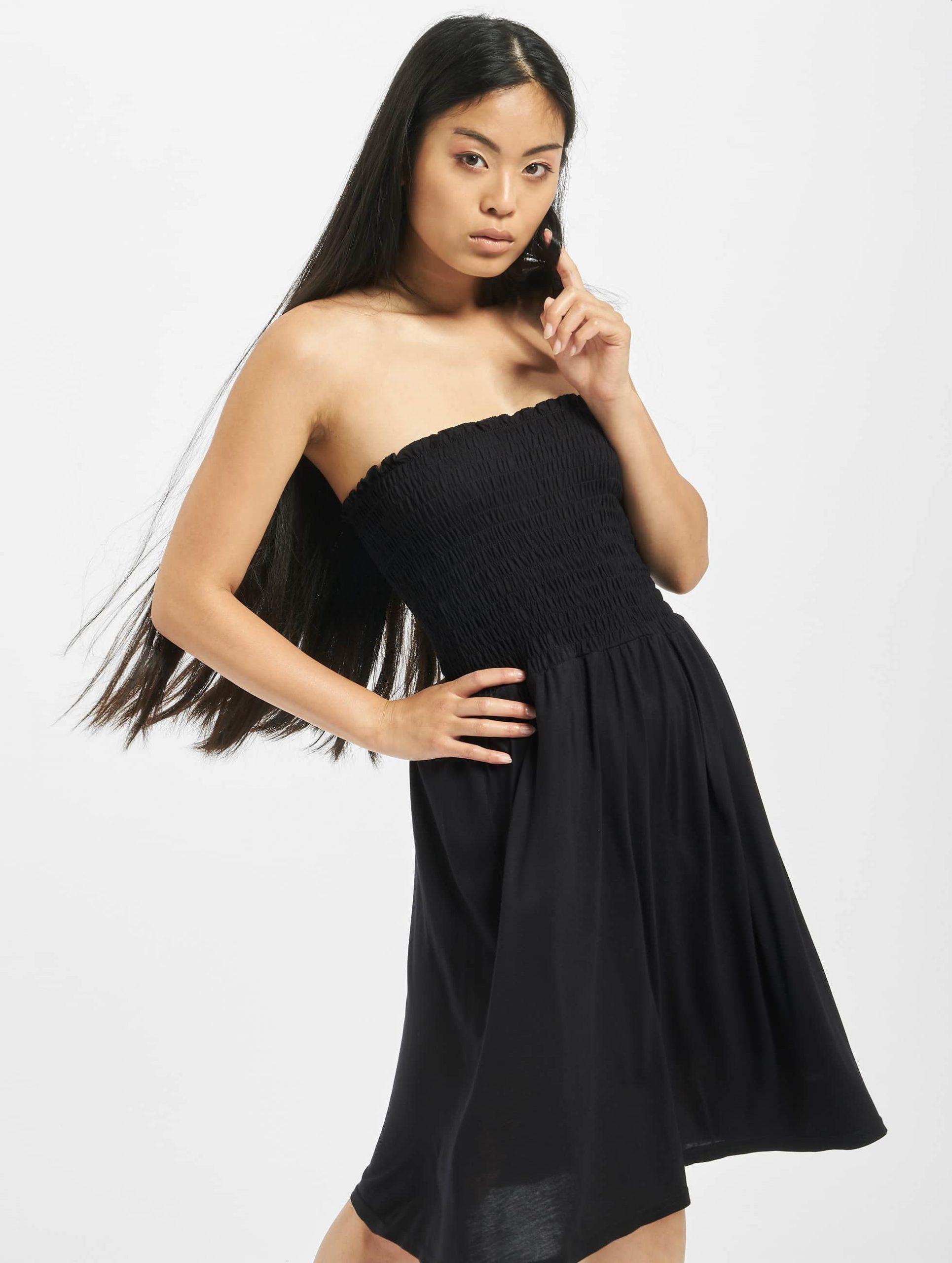 Urban Classics Damen Kleid Smoke In Schwarz 476426