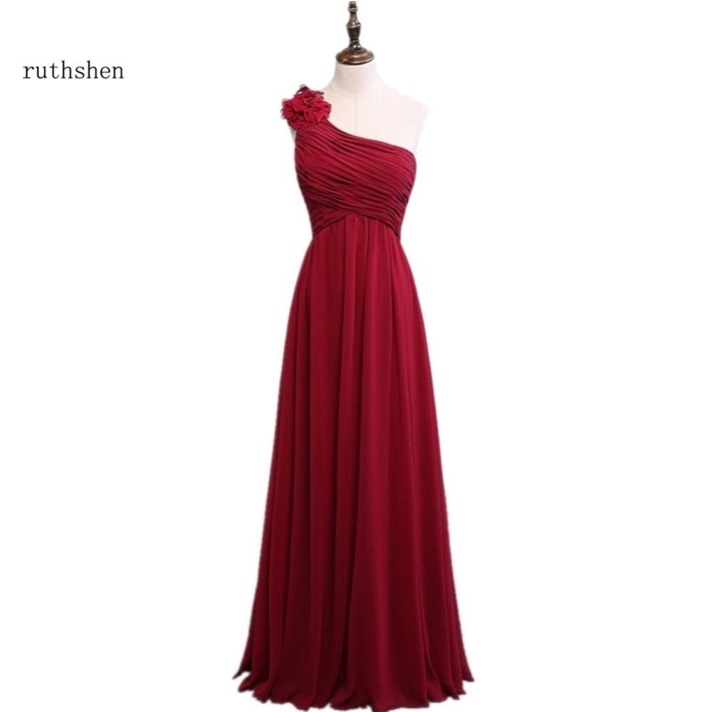 Us 420 Ruthshen Wein Rot Brautjungfer Kleid Günstige