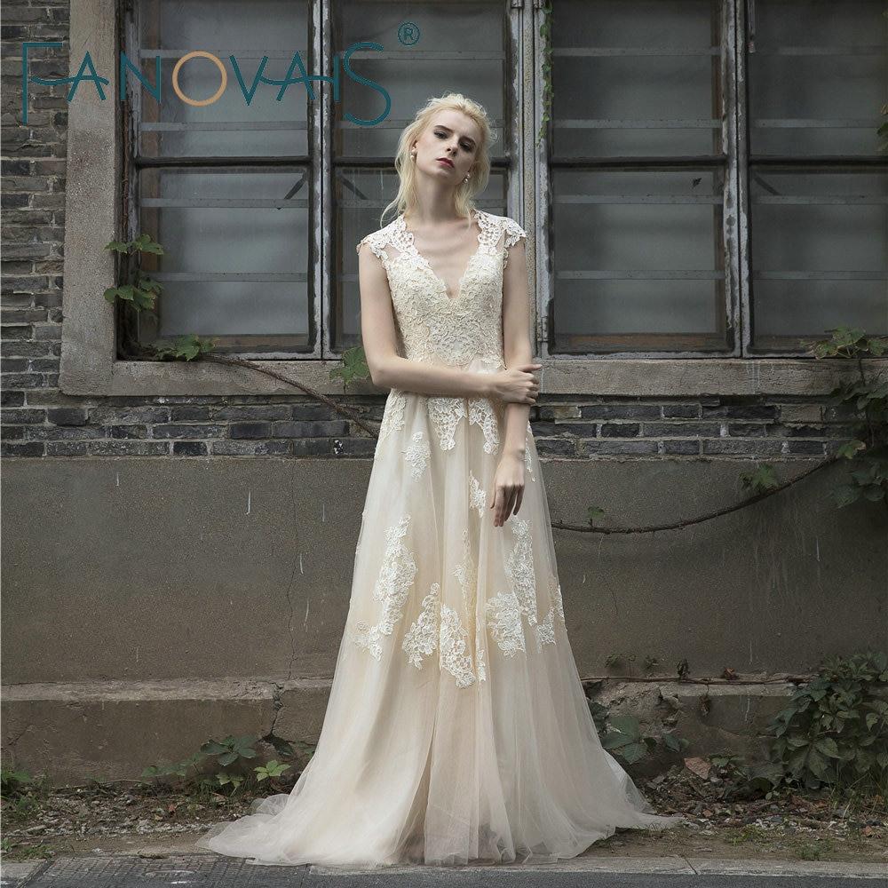 Us 950 20 Off2019 Vintage Spitze Hochzeit Kleid Plus
