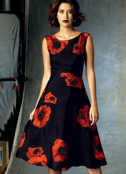 V1422 Damen Kleid Schnittmuster Von Vogue  Ballkleider