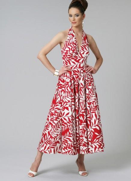 V8727 Damen Kleid Schnittmuster Von Vogue  Formell