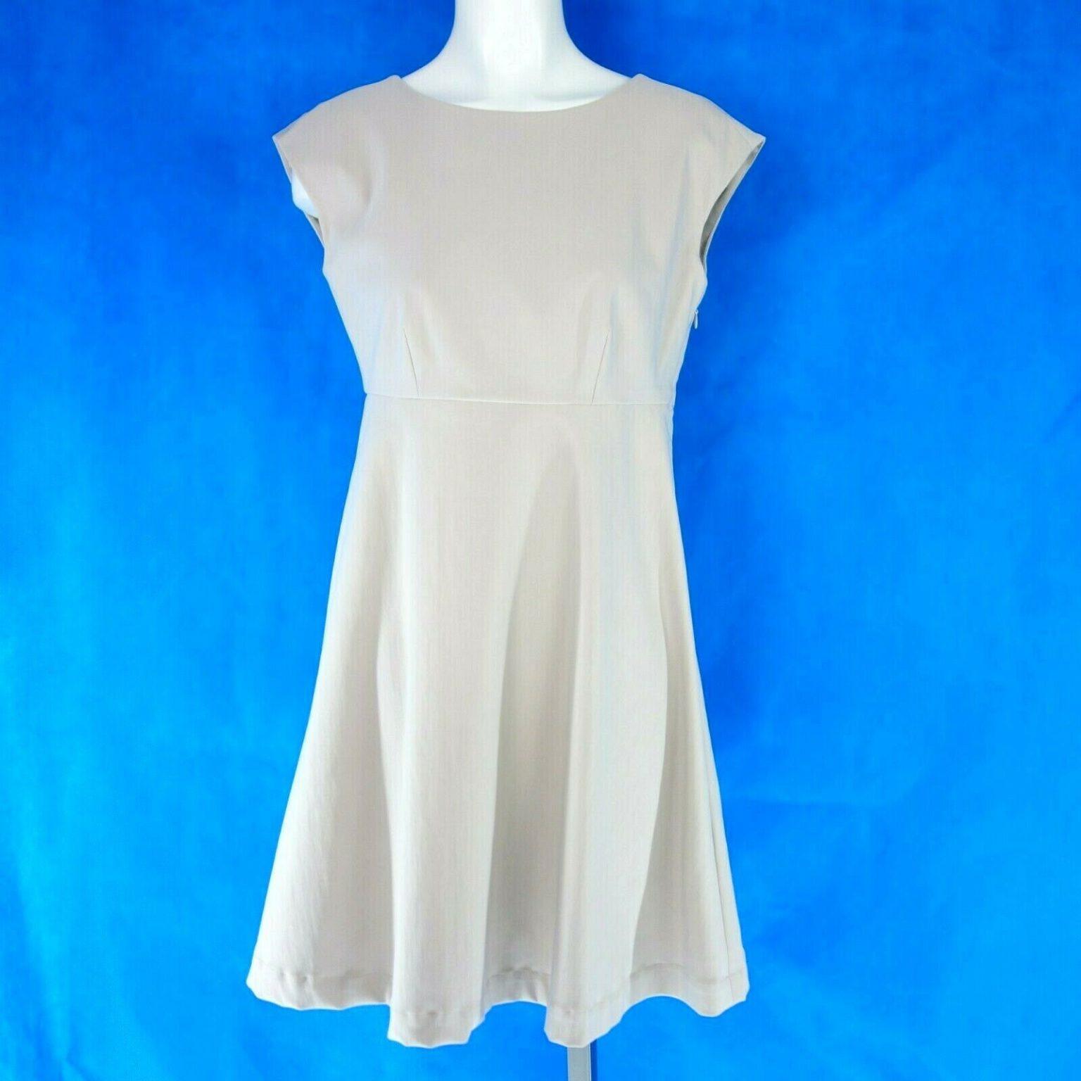 Va Bene Damen Etuikleid Midi Kleid Größe 36 S Beige