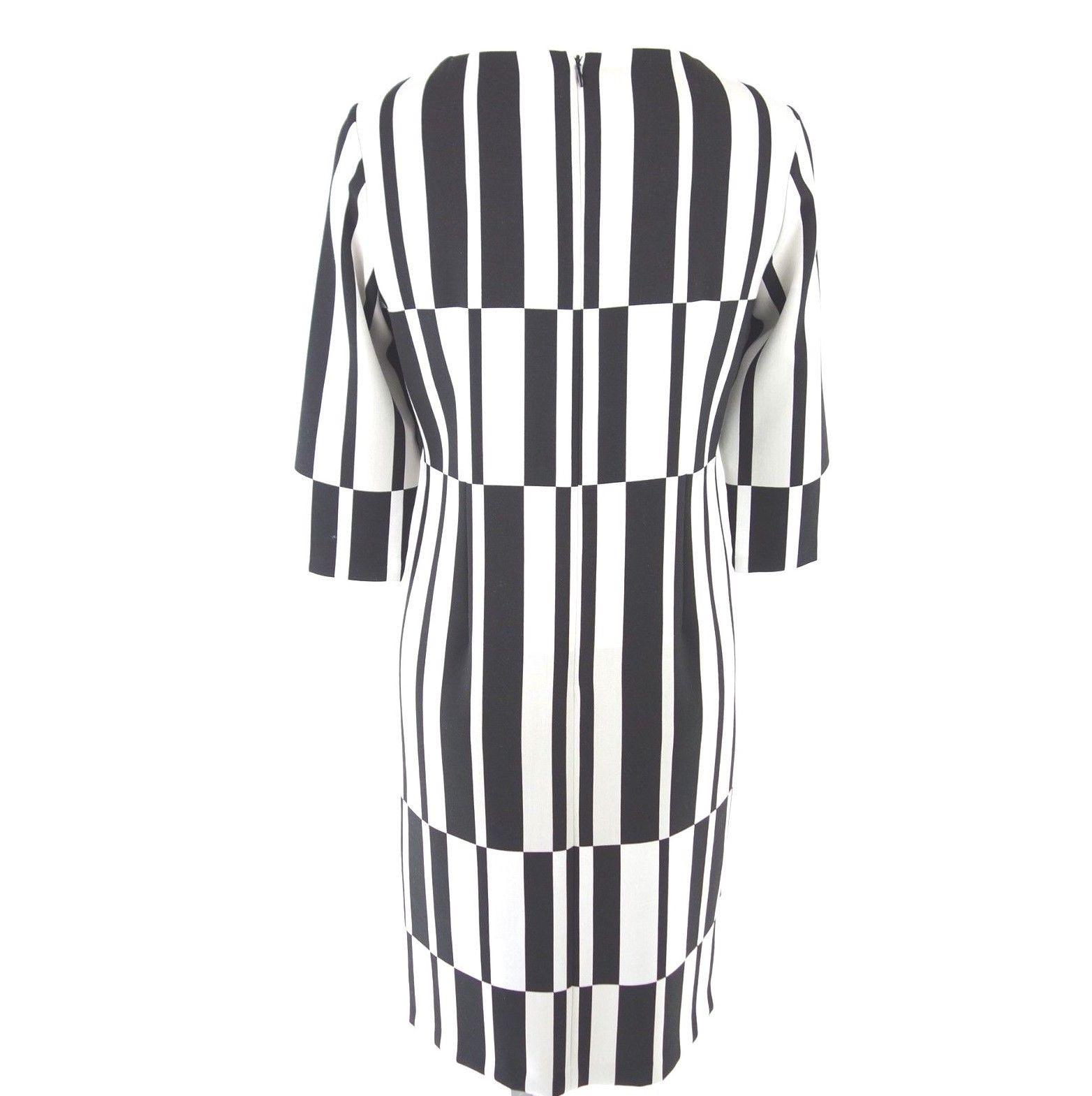 Va Bene Damen Kleid Etuikleid Gr 38 40 42 Schwarz Weiß