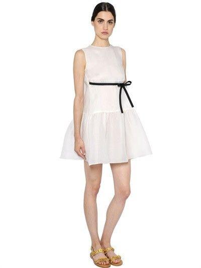 Valentino  Kleid Aus Seide Mit Rüschen  Dresses For Work