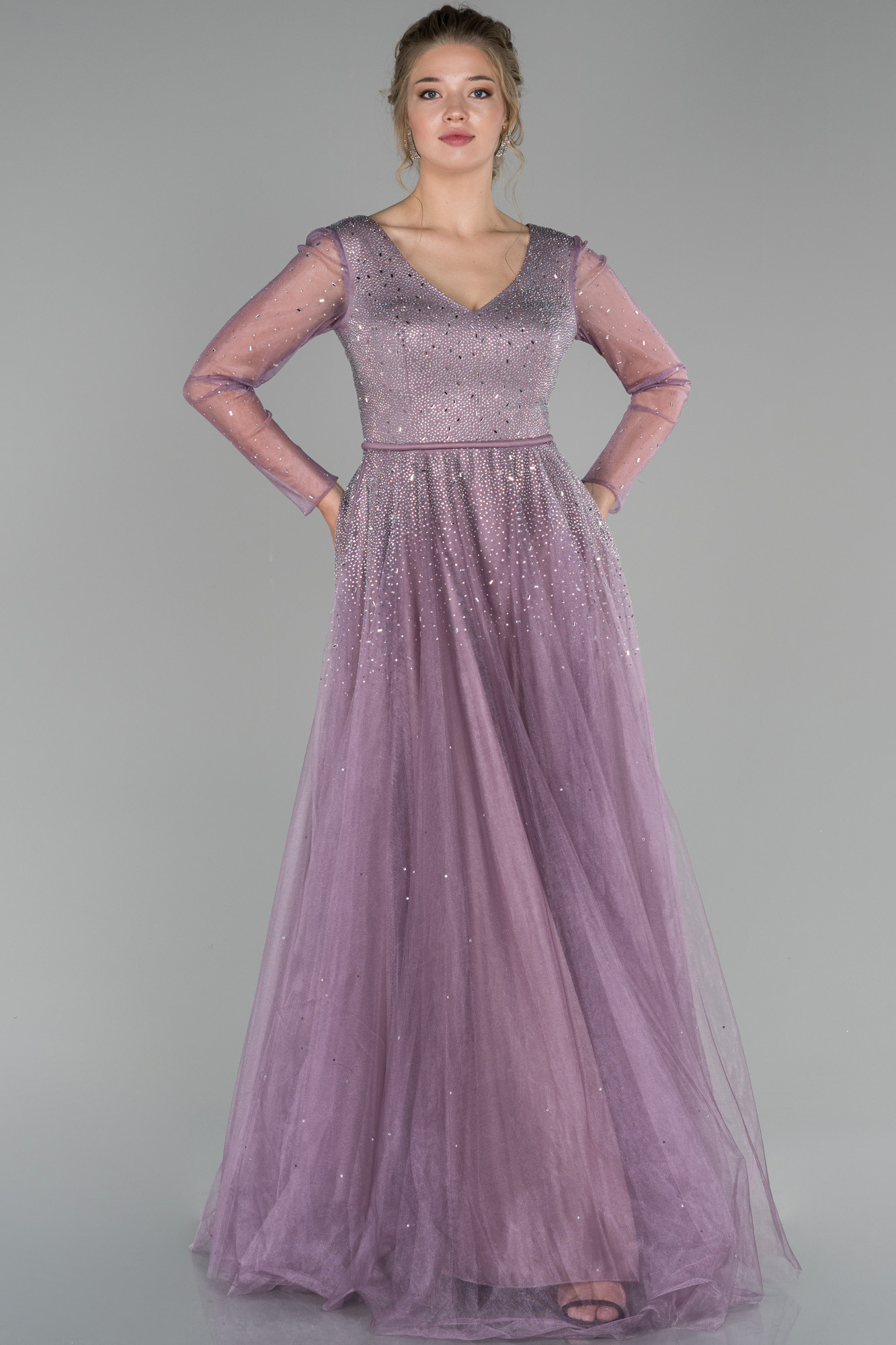 Verlobungskleid Lang Lavendel Abu1495  Abiyefon