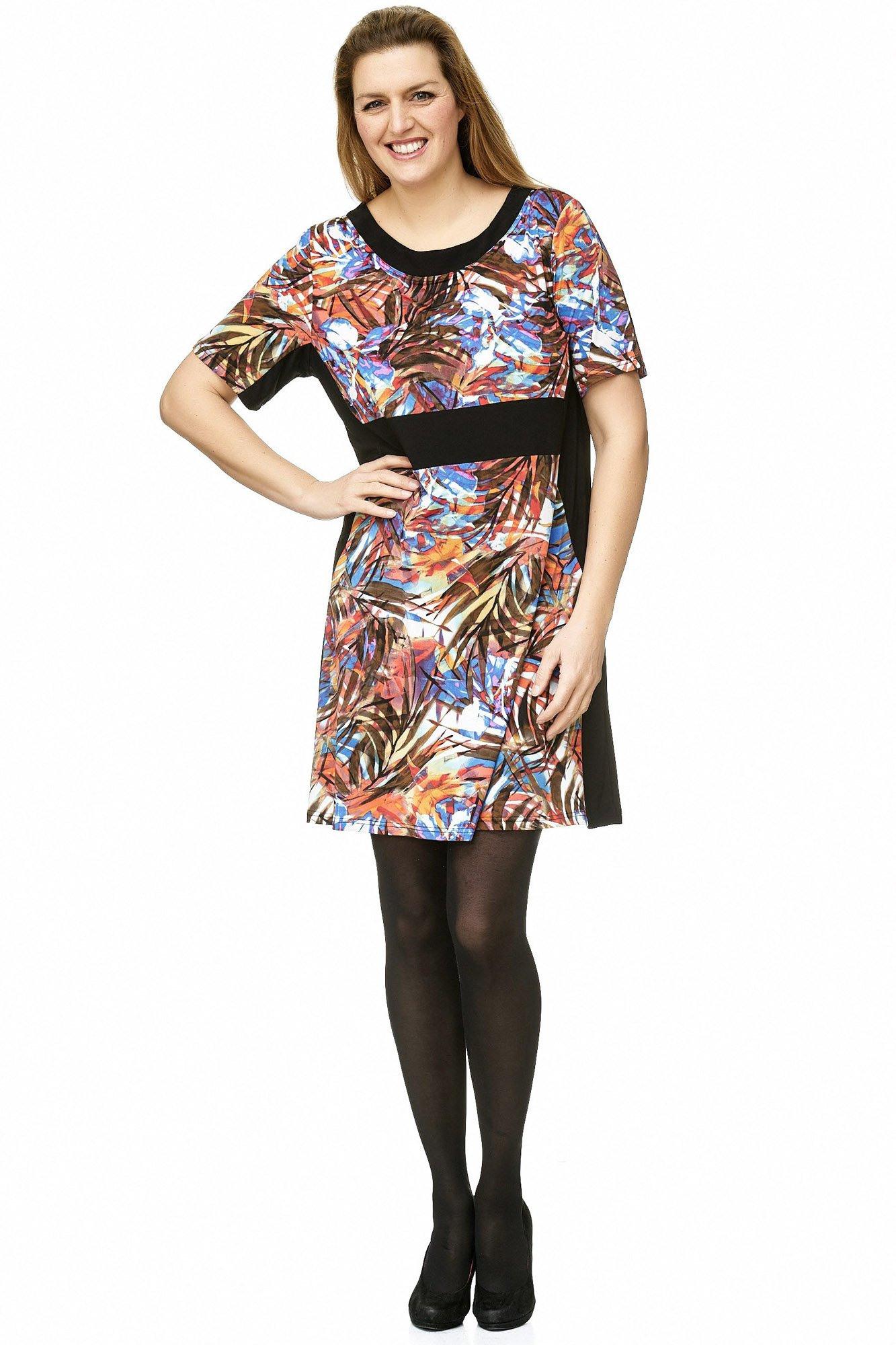Verlockendes Tunika Kleid Mit Streifen Print  Maltex24