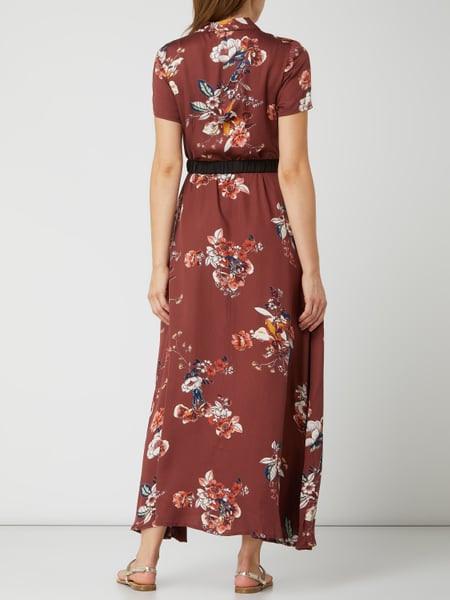 Vero Moda Blusenkleid Aus Viskose Modell 'Lovely' In Rot