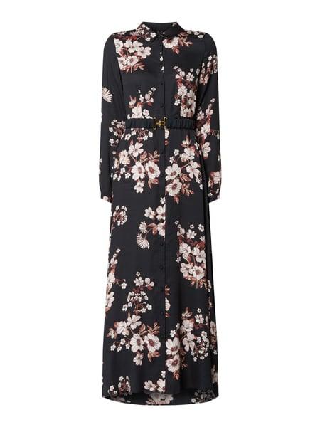 Vero Moda Blusenkleid Aus Viskose Modell 'Roma' In Grau