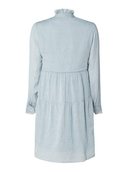 Vero Moda Copenhagen Kleid Mit Rüschen In Blau / Türkis