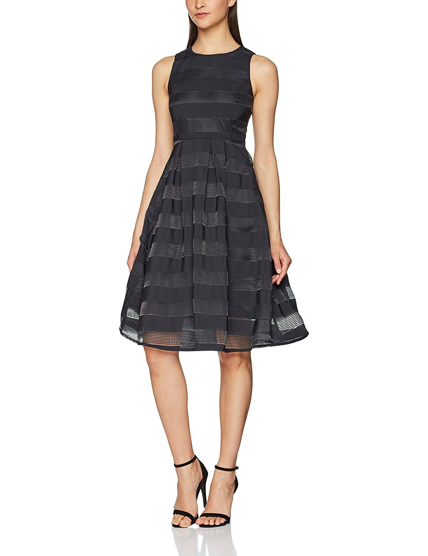 Vero Moda Damen Kleid Vmgreen Rakel S/L Below Knee Dress