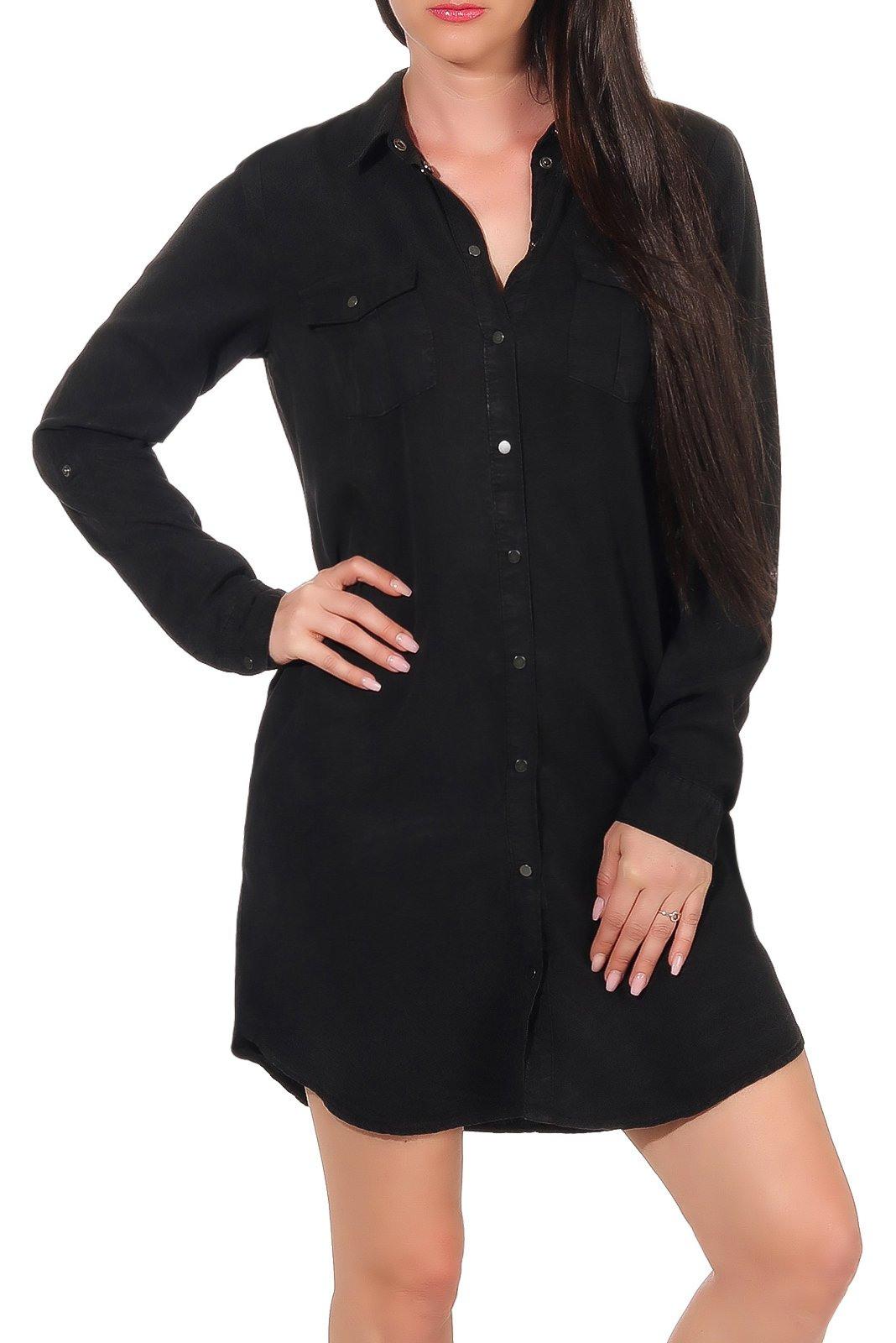 Vero Moda Damen Shirtkleid Silla Langarm  Röcke/ Kleider