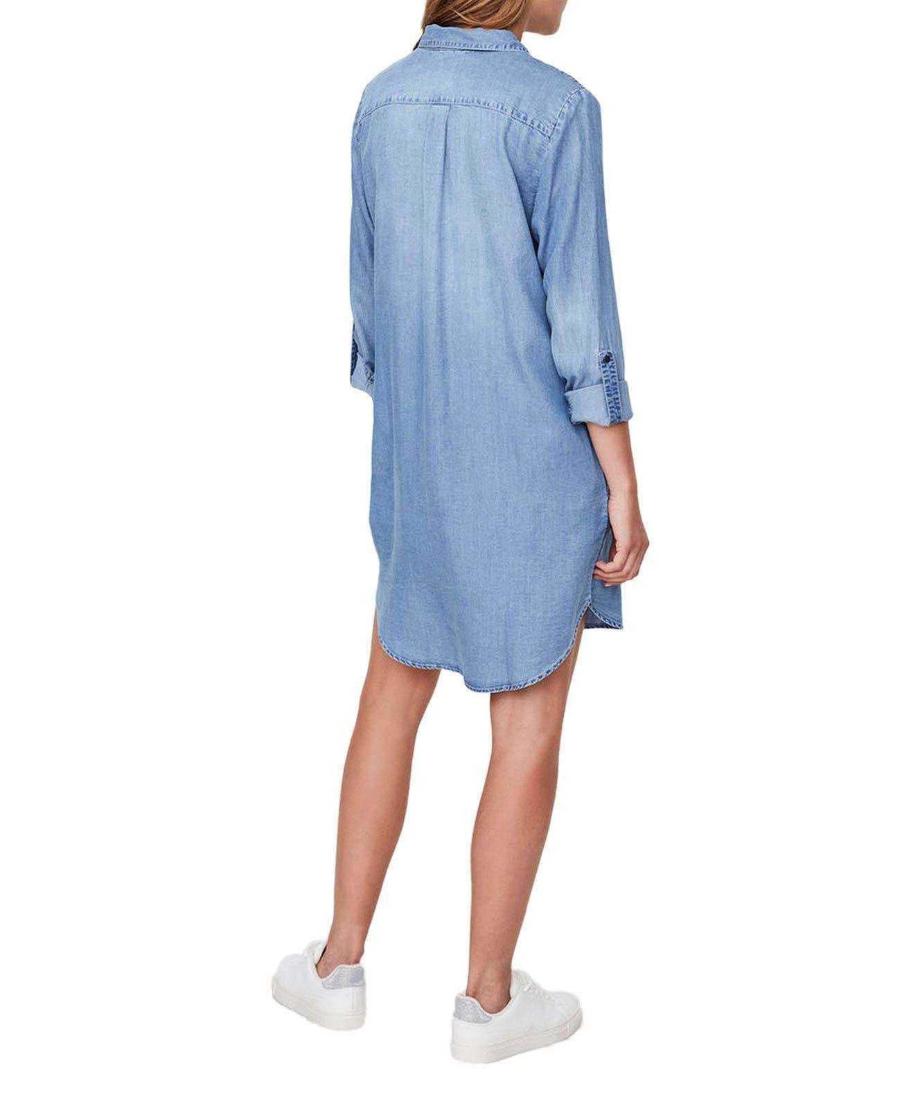 Vero Moda Jeanskleid Silla In Hellblauem Light Blue Denim