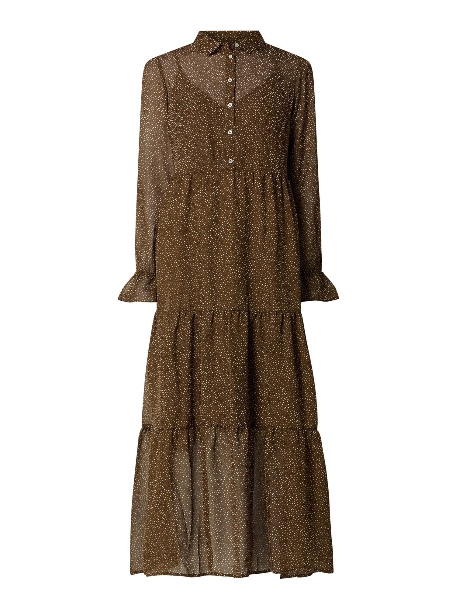 Vero Moda Kleid Aus Chiffon Mit Allovermuster In Grün