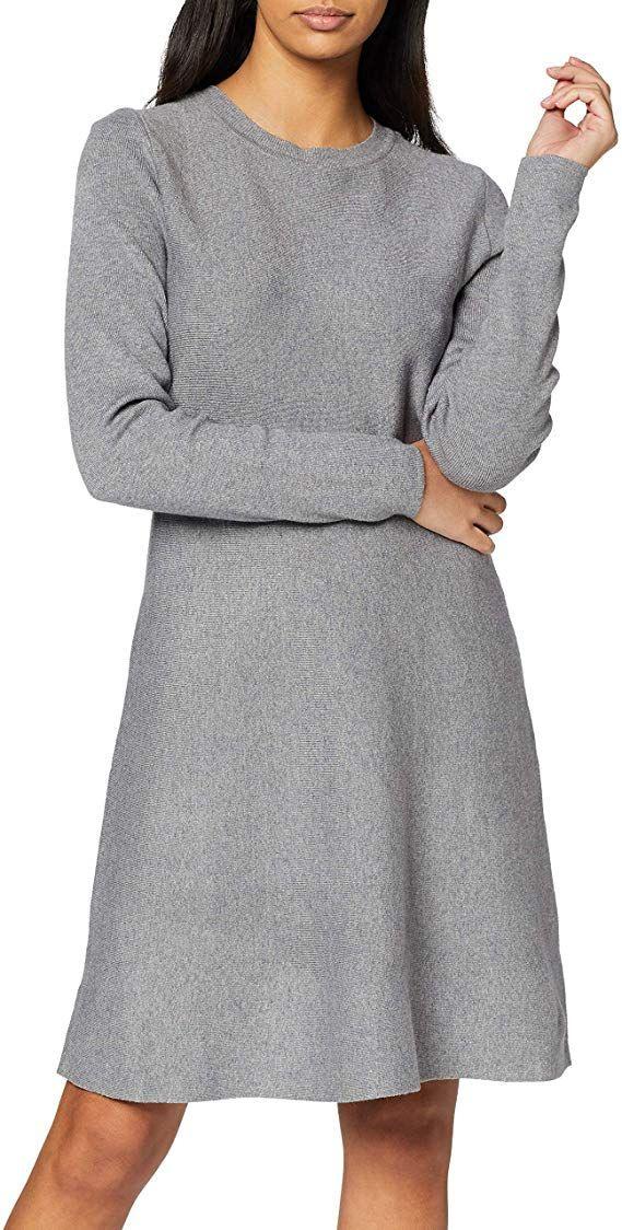 Vero Moda Nos Damen Vmnancy Ls Knit Dress Noos Kleid In