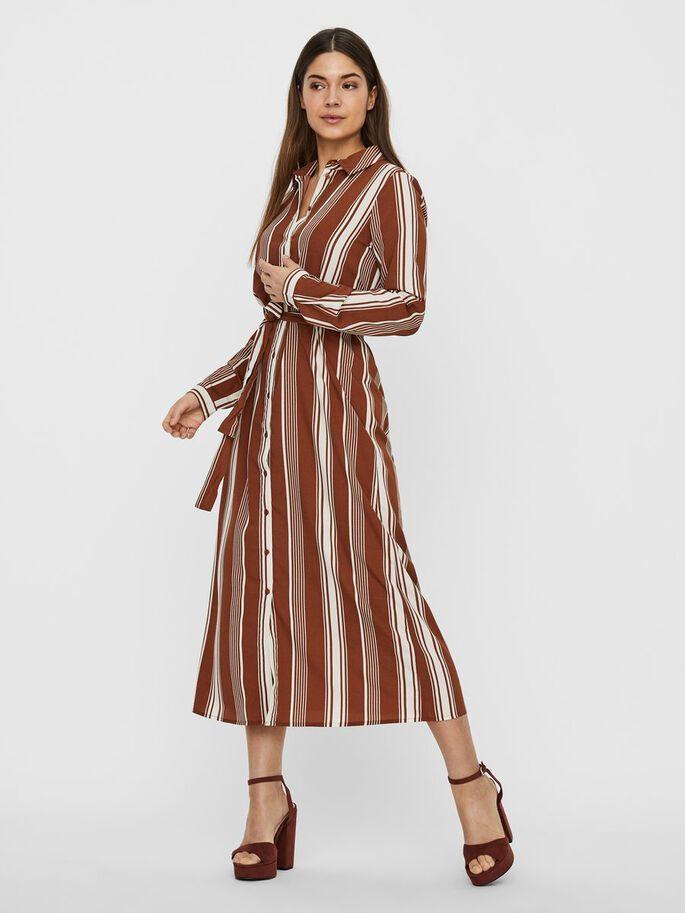 Vero Moda Streifen Blusenkleid In 2020  Gestreiftes