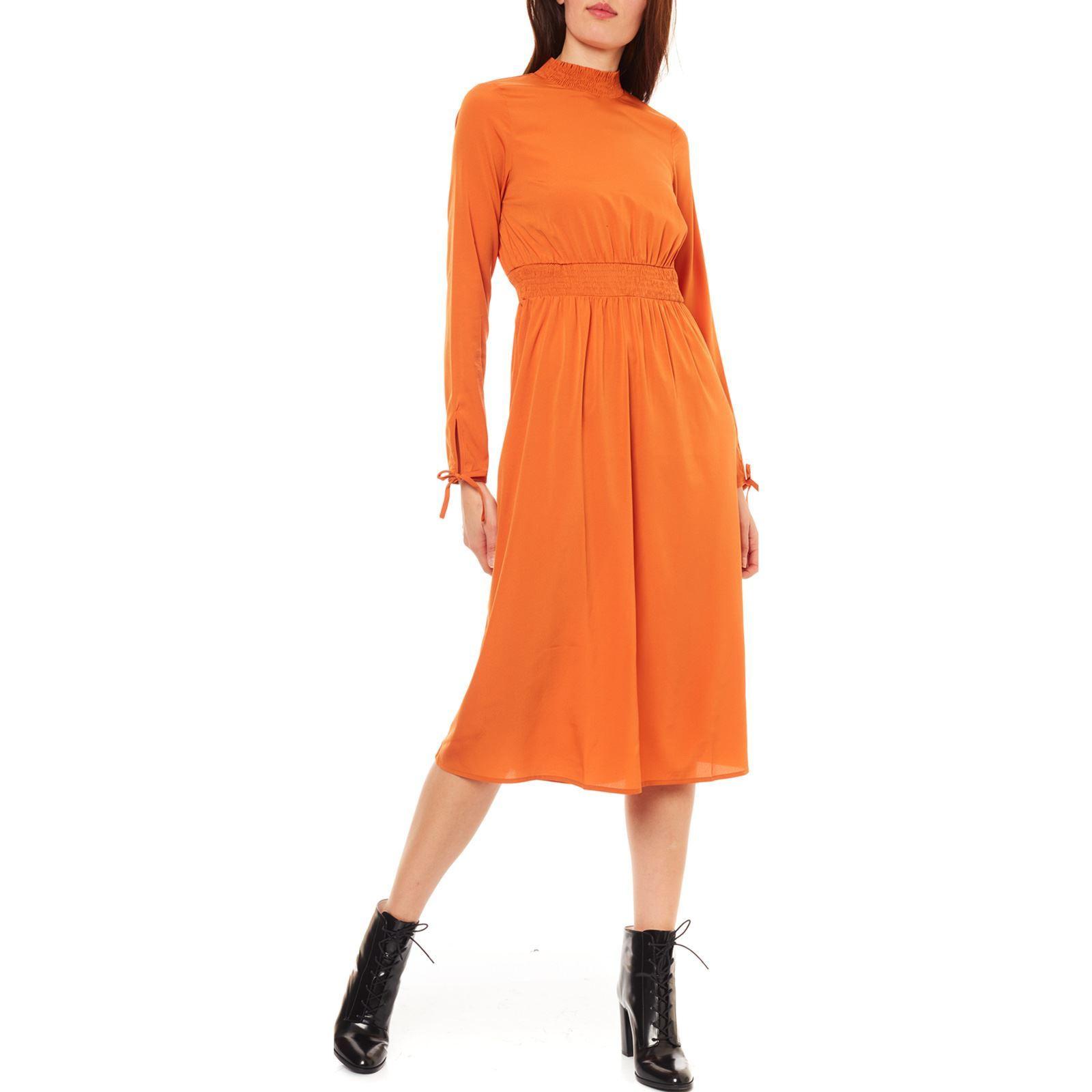 Vero Moda Toscana  Langes Kleid  Orange  Brandalley