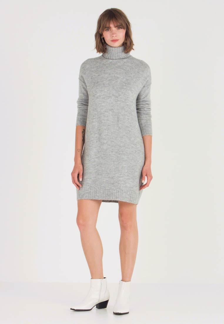 Vero Moda Vmluci Rollneck Dress  Strickkleid  Light Grey