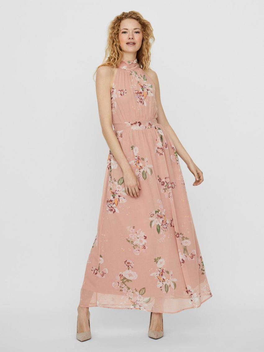 Veromoda Kleider  Damen Maxi Maxikleid Rosa / Misty Rose
