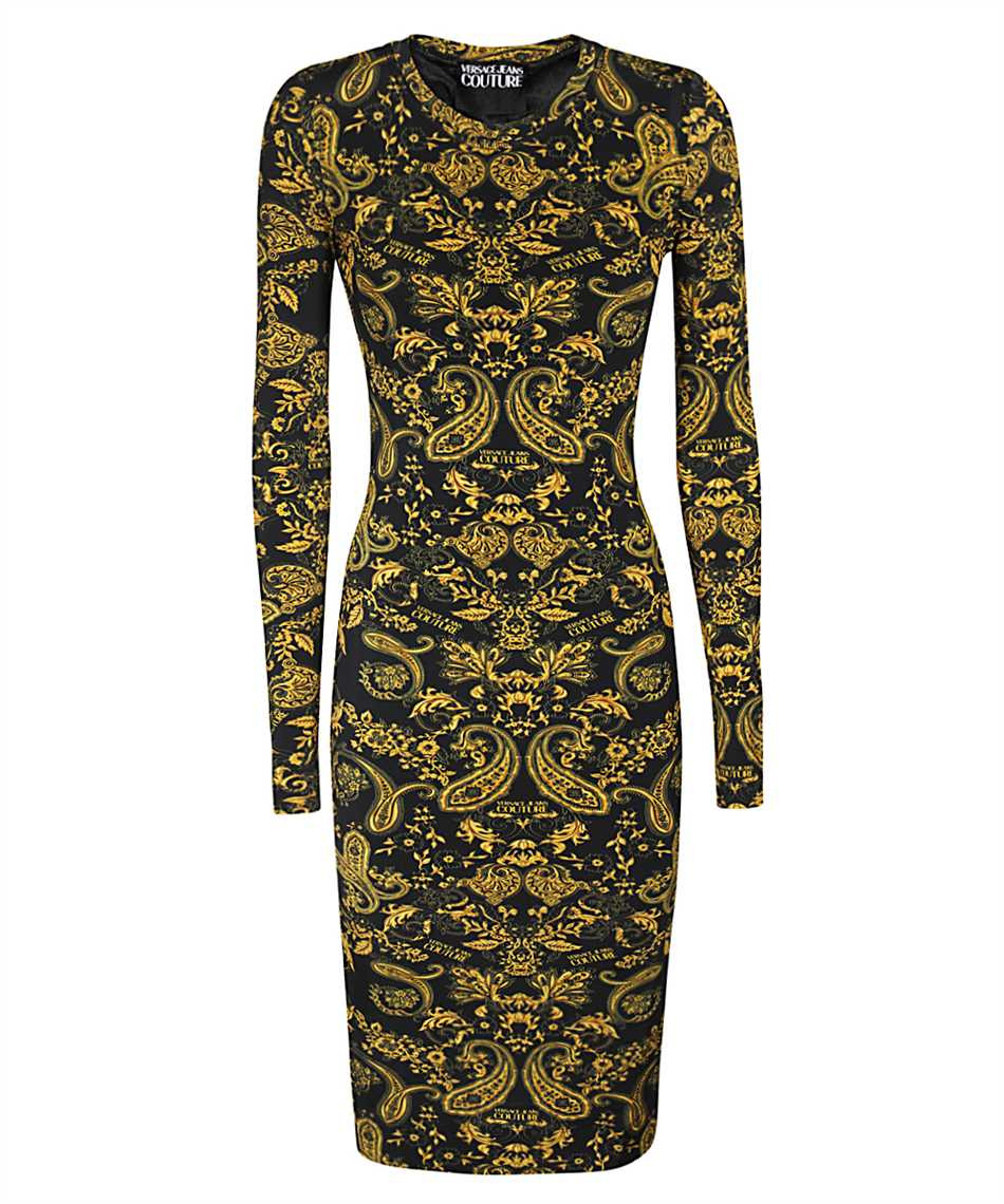 Versace Jeans Couture D2 Hza431 S0840 Kleid Schwarz