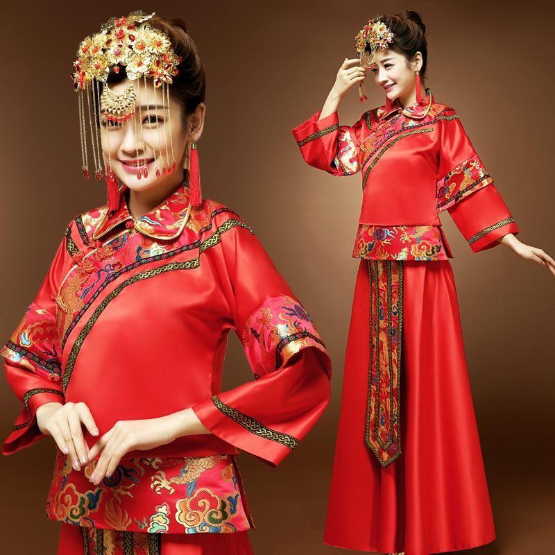 Versandkostenfrei Braut Abendkleid Cheongsam Kleid Chinese