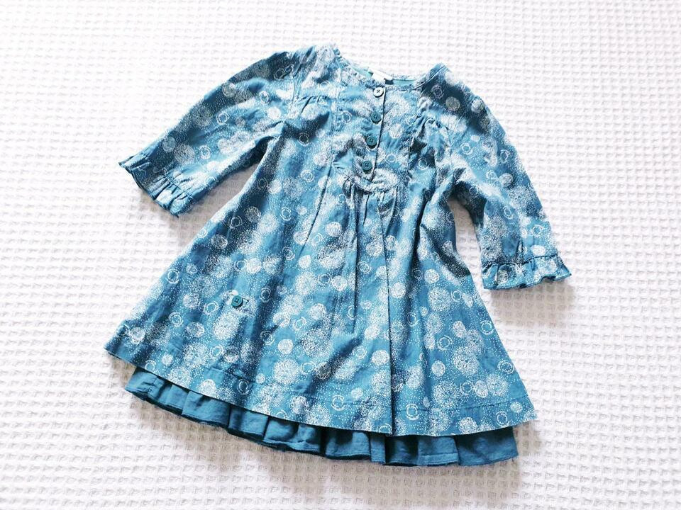 Vertbaudet ♥ Kleid Tunika Gr8692 Petrolweiß Neuw In