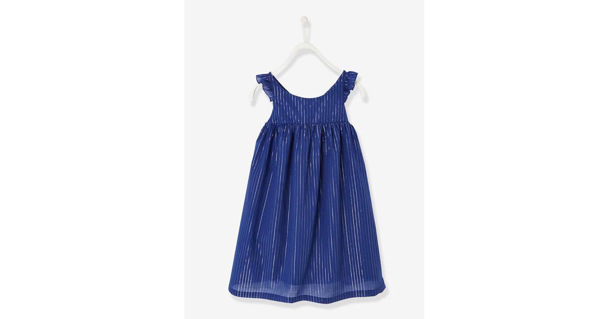 Vertbaudet Festliches Kleid Für Mädchen Glitzerstreifen