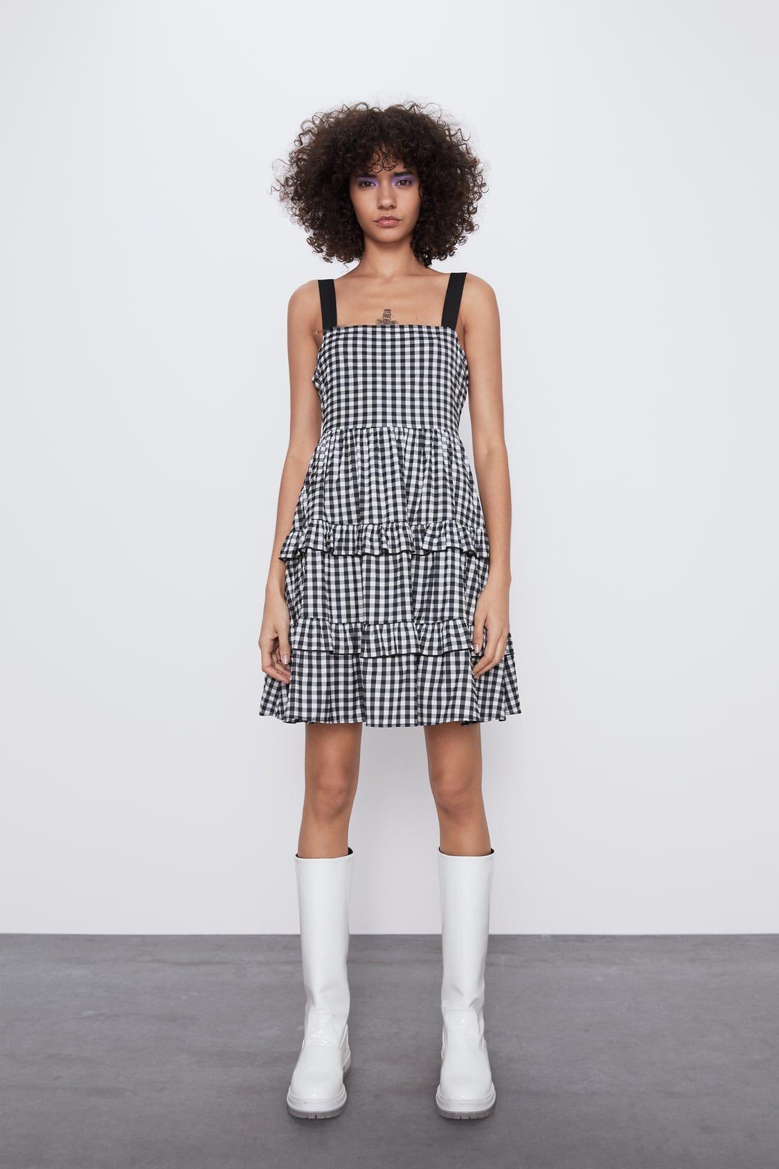 Vestido Cuadro Vichy In 2020  Karokleid Kurze Kleider