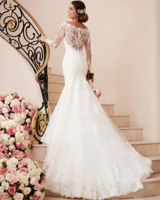 Vestido De Noiva Brautkleid China Rustikale Spitze Lange
