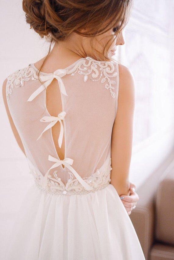 Vestido De Noiva Marfim Vestido De Noiva Com Miçangas