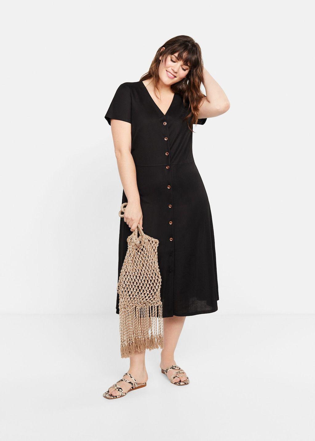 Vestido Midi Botones  Tallas Grandes  Mango Mode Kleid