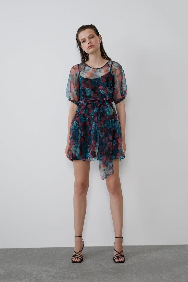 Vestido Organza Volumen  Kleider Damen Transparentes