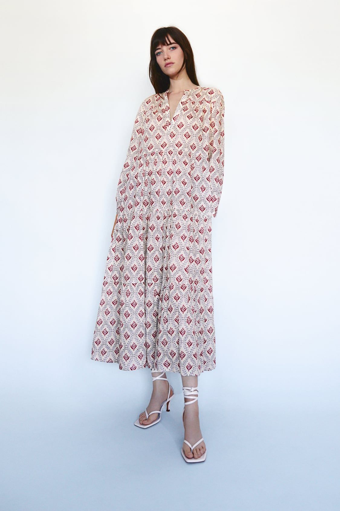 Vestido Volumen Estampado In 2020  Kleider Kleider Für